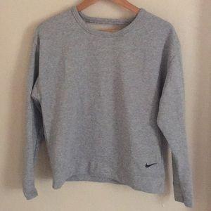 Nike dri fit open back gray sweatshirt NWOT